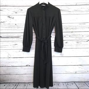 EUC Zara Trafaluc Mock neck zip up long dress S
